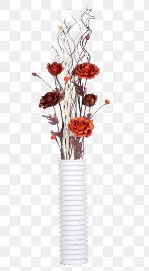 Dried Flowers Home Decoration - Cut Flowers Petal Vase Floristry PNG
