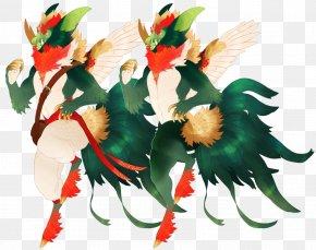 Rooster - Floral Design Cut Flowers Art PNG