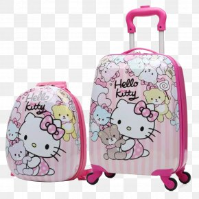 Pink Hello Kitty - Hello Kitty Suitcase Baggage Travel Wheel PNG