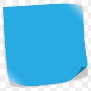 Post-it - Toto Aqua Turquoise Teal Cobalt Blue PNG
