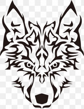 Langtou Flag - Gray Wolf Tribe Clip Art PNG