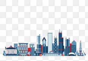 Skyscraper Apartment Buildings - Chicago New York City Skyline Illustration PNG
