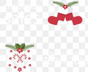 Flat Discount Banner - Christmas Computer File PNG