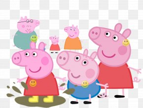 Daddy Pig - Daddy Pig Desktop Wallpaper Animated Cartoon PNG