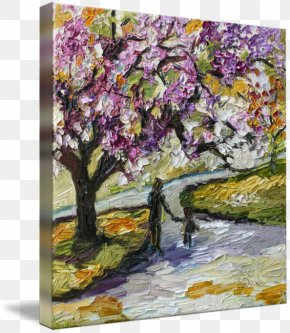 Cherry Blossom - Cherry Blossom Watercolor Painting Canvas Print PNG
