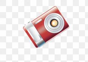 Red Digital Camera - Camera Download PNG