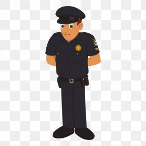 Vector Police Characters - Police Officer Cartoon Traffic Police PNG