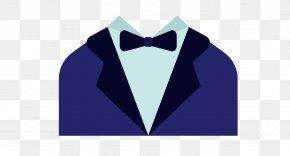 Blue Dress Coat Gentleman - Tuxedo Logo Font PNG