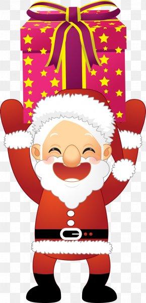 Send Gift Santa Claus - Santa Claus Christmas Ornament Gift Clip Art PNG