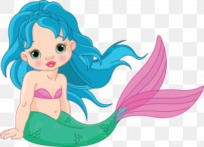 Cartoon Mermaid Material - Mermaid Stock Photography Illustration PNG