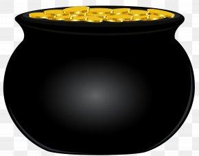 Black Pot Of Gold Clip Art Image - Gold Clip Art PNG