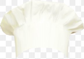 White Chef Hat - Sleeve Shoulder Blouse PNG