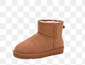 Fashion Snow Boots - Snow Boot Suede Shoe PNG