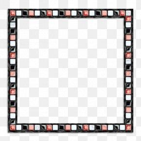 Rectangle Picture Frame - Black Background Frame PNG