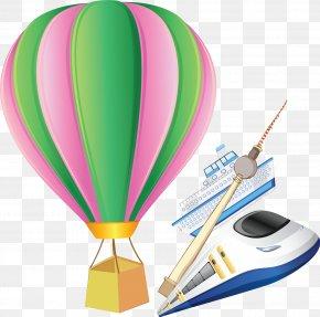 Hot Air Balloon Ship Posters Vector Material - Hot Air Balloon Flight PNG