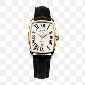 Mido Ms. Black Watch - Mido Automatic Watch Clock Luxury Goods PNG