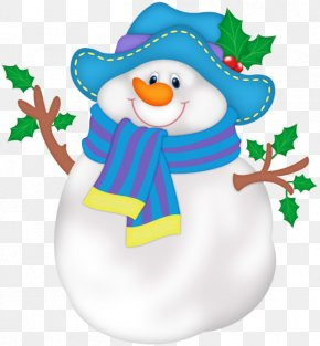 Snowman With Blue Hat - Snowman PNG