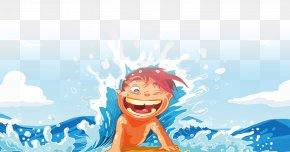 Children Playing - Beach Cartoon Summer Clip Art PNG
