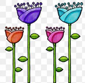 Wildflower Plant Stem - Clip Art Plant Tulip Flower Cut Flowers PNG