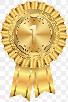 Gold Medal Transparent Clip Art Image - Gold Medal Clip Art PNG