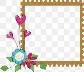 Frilly Border - Picture Frames Floral Design Clip Art PNG