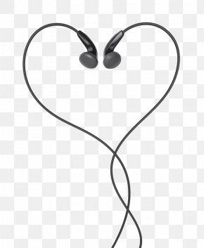 Black Headphones - Headphones Apple Earbuds Heart Clip Art PNG