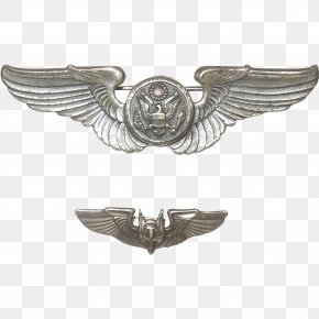 Silver - United States Army Air Forces Silver Aviator Badge United States Of America United States Army Air Corps PNG