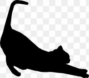 Cattail Silhouette Clipart Silhouette - Cat Silhouette Felidae Clip Art PNG