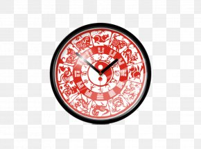 Chinese Zodiac Silent Living Room Wall Clock - Chinese Zodiac Astrological Sign Dog Chinese Astrology PNG