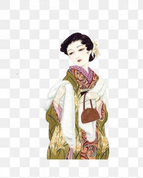 Japan's Creative Ji Videos - Japan Taishu014d Period Illustrator Art Illustration PNG