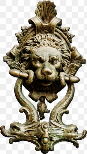 Brass Lion Head Door Handle - Lionhead Rabbit Lions Gate Lions Head PNG