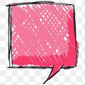 Hand Painted Pink Cartoon Chat Box - Speech Balloon Cartoon Clip Art PNG