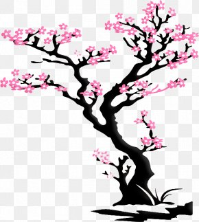Sakura Tree - Wall Decal Cherry Blossom Sticker PNG