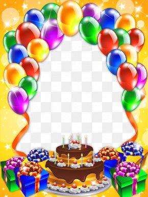 Free Birthday Frames - Birthday Cake Happy Birthday To You Clip Art PNG