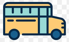 Yellow Bus - School Bus Transport Icon PNG