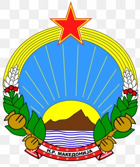 Macedonia (FYROM) Socialist Republic Of Macedonia National Emblem Of The Republic Of Macedonia Coat Of Arms Flag Of The Republic Of Macedonia PNG