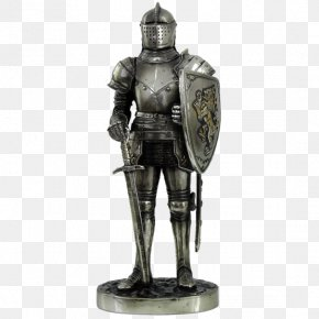 Knight - Middle Ages Knight Plate Armour Statue Figurine PNG