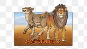 Fiery Lion Wallpaper - Lion Dog Big Cat Wildlife PNG