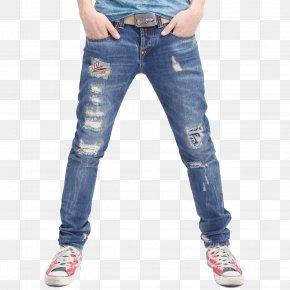 Jeans - Jeans Fashion Slim-fit Pants Denim PNG