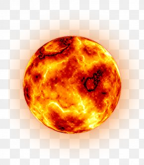 Hot Planet - Planet Yellow PNG