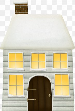 The House Is Covered In Snow - Window House Winter PNG
