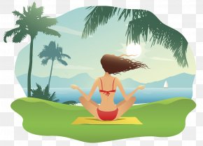 Illustrations Relax The Seaside And Enjoy The Holiday - Cartoon Drawing Stock Illustration Illustration PNG