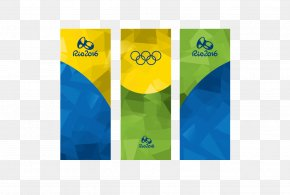 Rio Olympic Banner Creatives - 2016 Summer Olympics Rio De Janeiro Banner Olympic Symbols PNG