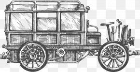 Vector Vintage Car - Bus Drawing Stock Photography Sketch PNG