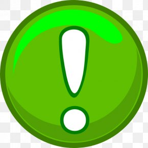 Green Alert Icon Clip Art - Clip Art PNG
