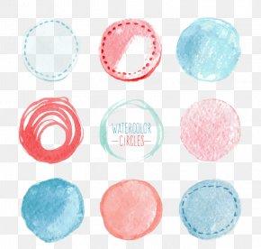 Watercolor Tags - Euclidean Vector Watercolor Painting Circle Download PNG