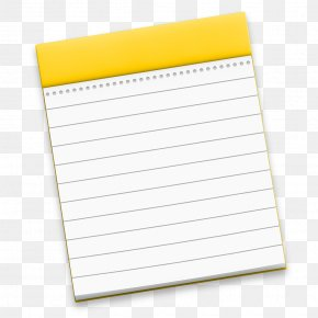 Notes - Material Notebook Yellow Paper Product PNG
