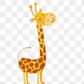 Cartoon Cute Giraffe Vector - Giraffe Cartoon Greeting Card Birthday PNG