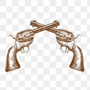 Spear Revolver - American Frontier Western Illustration PNG