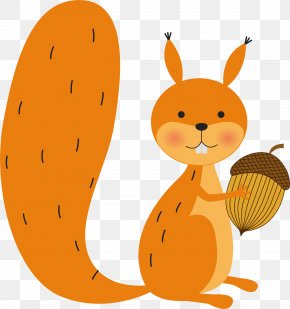Yellow Squirrel Vector - Squirrel Drawing Royalty-free Illustration PNG
